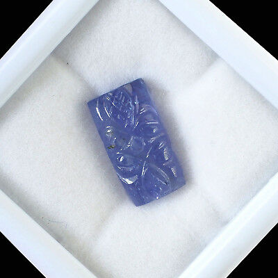 7.65 Cts Natural Tanzanite Violet Blue Magnificent Gem - Moghul Carving Work
