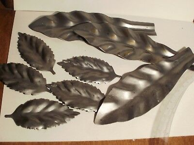 Metal Leaves for Welding art Steam Punk Industrial art Lot of 3 7 inch 5 3 inch
