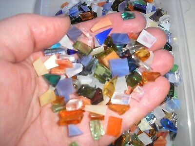 Stained Glass Mosaic supplies, mosaic tiles, random shapes, approx 1cm diameter