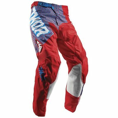 Thor Pulse Geotec Mens MX Offroad Pants Blue/Red