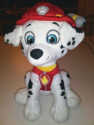 Plush Dalmatian Fire Dog W Firefighter Hat Black And White Puppy