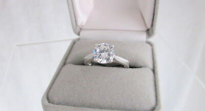 JH 925 Sterling Silver Solitaire Engment Ring 2.5ct Cubic Zirconia 3.9g CZ Sz 7