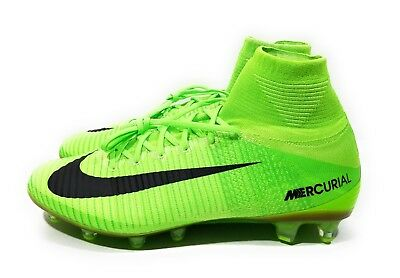best website b3b29 a93ce Nike Mercurial Superfly V AG Pro Mens Soccer Cleats Green Black Size 11
