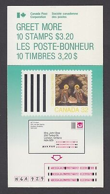 CANADA BOOKLET BK99 10 x 32c CHRISTMAS - GREET MORE