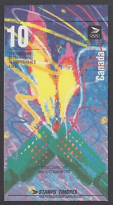 CANADA BOOKLET BK144d 10 x 42c OLYMPIC WINTER GAMES, FLAME AT LEFT, OPEN COVER
