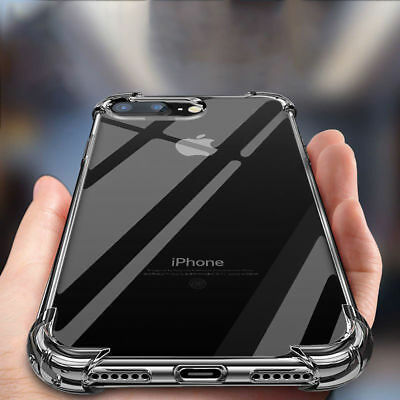 iPhone X XR Case Shock Proof Crystal Clear Soft Silicone Gel Bumper Cover Slim