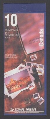 CANADA BOOKLET BK160a 10 x 43c HISTORIC CPR HOTELS GLUED FLAP NO TI