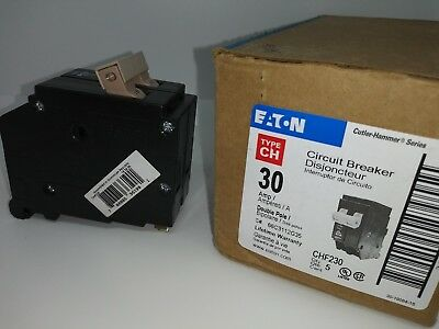 EATON CUTLER HAMMER CHF230 2 Pole 30 Amp CIRCUIT BREAKER W/INDICATOR CH230 NEW