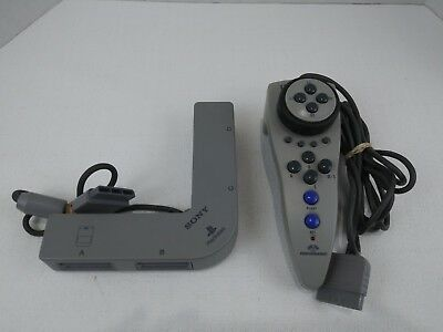 PS1 Ultra Racer Hand Racing Wheel Controller  Multi-Tap 4 Way Sony PlayStation 1