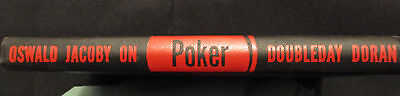 OSWALD JACOBY ON POKER with foreword by Grantland Rice Double day 1945