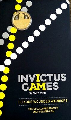 2018  Invictus Games Sydney $1  Uncirculated Carded Coin  #2