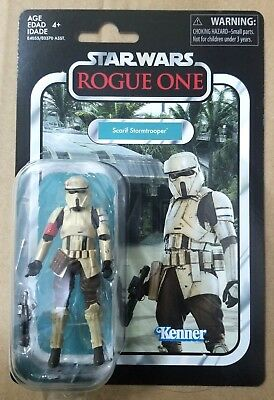 "HASBRO STAR WARS VINTAGE COLLECTION 3.75"" inch SCARIF STORMTROOPER ACTION FIGURE"