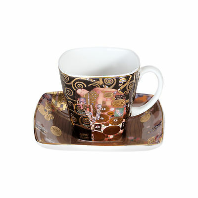 "Goebel Artis Orbis Gustav Klimt Espresso Cup "" the Fulfillment "" Mocha Cup"