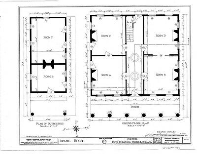 Southern Style Antebellum small home design, detailed plans, cottage, PDF file
