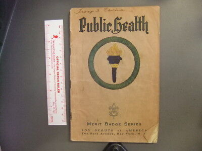 Boy Scout Public Health Merit Badge Pamphlet Brown Cover 4192Z