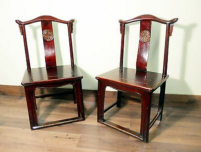 Antique Chinese High Back Chairs (Pair) (5428), Circa 1800-1849