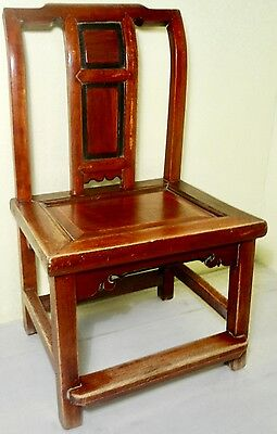 Antique Chinese Ming Children Chair (2716), Zelkova Wood, Circa 1800-1849