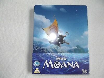 Disney Moana  3D (2 Discs) Blu Ray Steelbook Brand New Sealed!