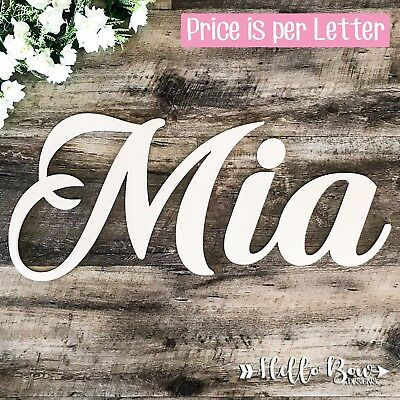 WOODEN LETTERS 15cm HIGH create personalised custom cut names & words home decor