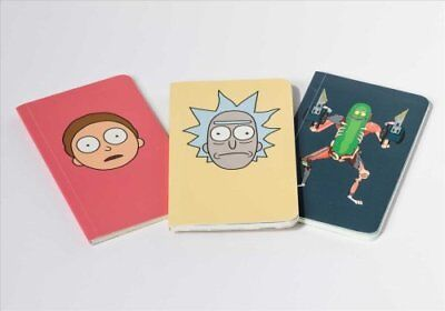 Rick and Morty: Set of 3 Pocket Journal Collection 9781683833079