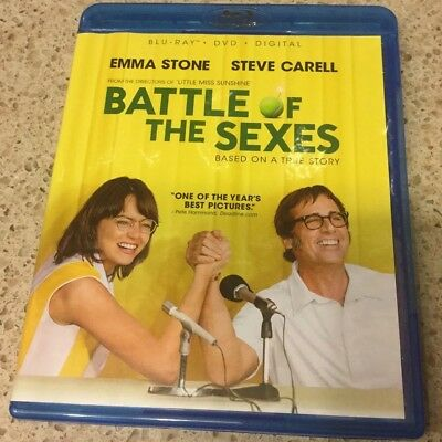 Battle of the Sexes (Blu-Ray Only) No DVD Or Digital. Steve Carell & Emma Stone