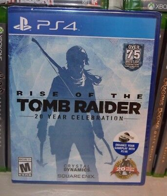 PS4 Rise of the Tomb Raider 20 Year Celebration NEW Sealed Region Free + VR ok