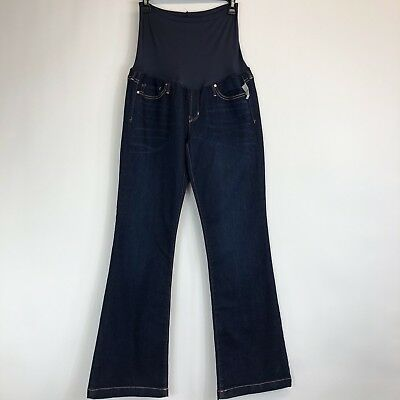 NWT Gap Maternity Long And Lean Dark Denim Jeans Size 30/10R