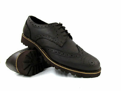 0d61aba9351 NEW MENS SMART Shoes Catesby Leather Upper Brown Brogue Occasions Office  Formal