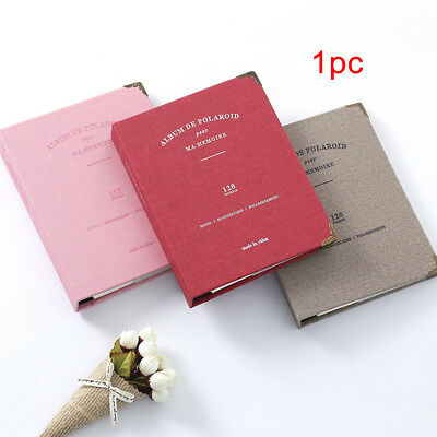 3 Inch 120 Sheets Photo DIY Large Capacity Self-adhesive Album Leather Cover