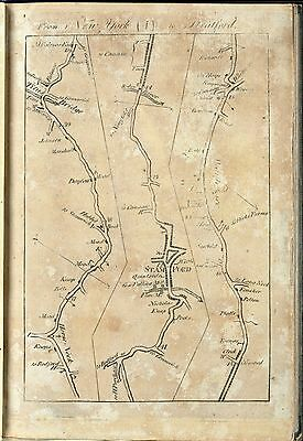 1789 atlas COLONIAL ROADS UNITES STATES COLLES old antique maps towns INNS B8