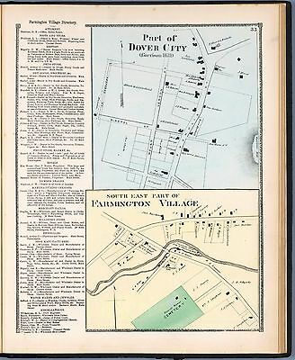 1871 maps NEW HAMPSHIRE STAFFORD COUNTY old GENEALOGY Atlas LAND OWNERS DVD P44