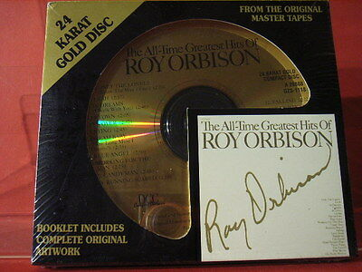 """Dcc Gzs-1118 Roy Orbison """" Greatest Hits """" (24 Kt Gold Compact Disc/sealed)"""