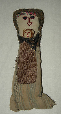 From Peru Andean Mountains Chancy Doll With Pre Columbian Era Clothing Fragments