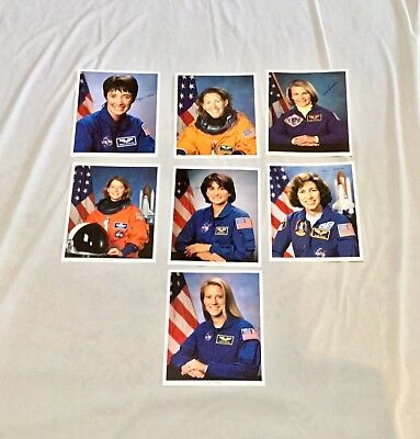 New Jsc Nasa Official [7 Women Astronauts] 8 X 10 Autopen Signed Photos