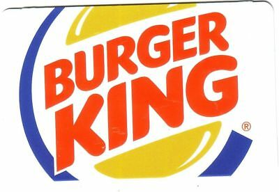 Burger King Restaurant 2015 Mint Gift Card Rechargeable !