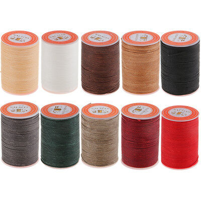 55M 0.8mm Round Waxed Thread Wax String Leather Sewing Stitching Jewelry Craft