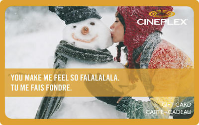 Collectable Cineplex Snowman Gift Card....no Value...eng/fr Rechargeable !