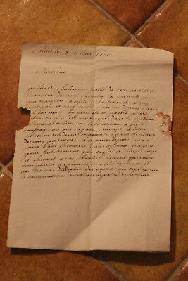 1817 Rare man lost at sea manuscript letter historical napoleon war Nelson army