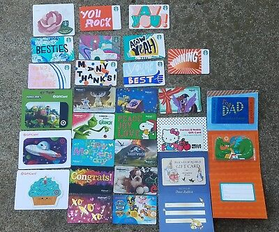 Starbucks ,barnes & noble, target & walmat Gift Cards No $ Value! lot of 28 New