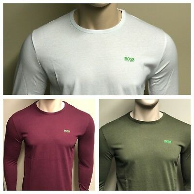 Hugo Boss Long Sleeved Crew Neck T-Shirt *** Various Colour *** S To 2XL
