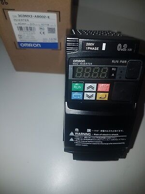 Omron 3G3MX2-AB002-E Inverter drive 0.2kW 1ph in 3ph out