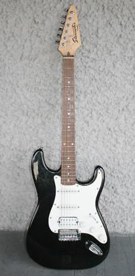 VTG FENDER Starcaster Electric Guitar. Black & White Classic Strat. Great Sound