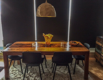 One-of-a-kind Reclaimed 100% Wood Dining Table