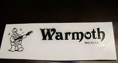 Warmoth Headstock Decal with Turtle Logo Guitar Bass Brand New