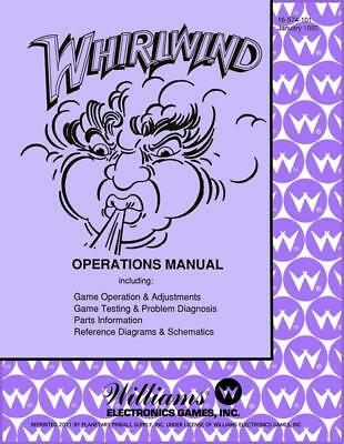 Whirlwind Pinball Operations/Service/Repair Manual/Arcade Williams Wind      PPS