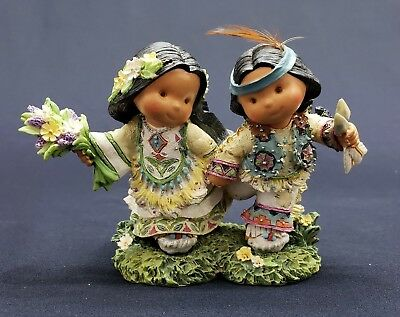 """Enesco Friends Of The Feather """"Love's Journey Lasts A Lifetime"""" Figurine & Box"""