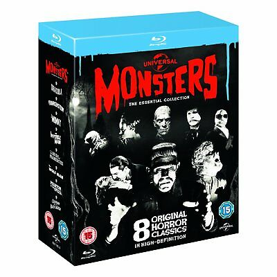 Universal Monsters The Essential Collection BLU-RAY 8 Movies New! Region Free UK