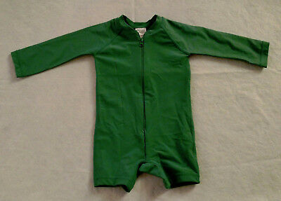 NWT Hanna Andersson Green Swimmy Rash Guard 1PC Swimsuit Baby Toddler Boy