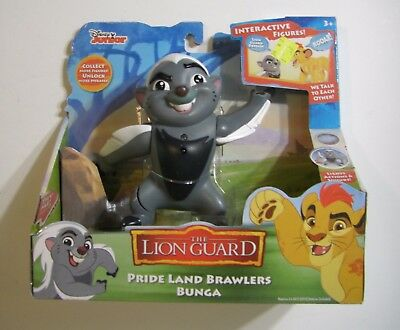 BUNGA THE HONEY BADGER FIGURE Lion Guard Animated Interactive Figure NEW DISNEY