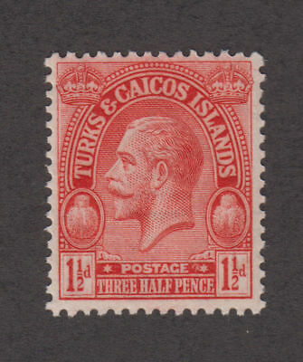 Turks & Caicos - 1925 1 1/2 Penny Red. Sc. #47. S.G. #165. Mint.
